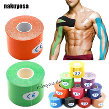 5M x 5CM Physio Muscle Strain Injury Support kinesiology tape Therapy Muscle Tape water proof tex tape 50pcs/lot