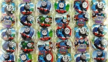 New 2sets (48pcs/set) Cartoon Train Round Brooch Button Pin badge Badge 4.5 cm DIY Children Gift X58