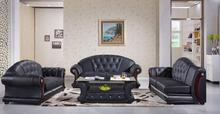 Modern sofa set for Sofa set living room furniture chesterfield sofa included coffe table Black