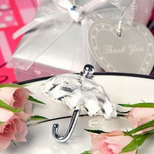 (100pcs/Lot)FREE SHIPPING+Wedding Favors Choice Crystal Umbrella Baby Baptism Gift For Guest Bridal Shower Crystal Favor