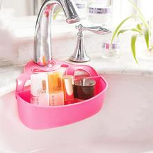 Creative Folding Hanging Plastic Bathroom Kitchen Gadget Storage Box Silicone Storage Sink Shelving Bags Hot Sale