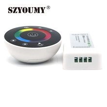 SZYOUMY DHL Ship DC12V-24V LED Touch Round RGB Controller 18A 7 Keys RF Remote Controller For 5050 3528 RGB LED Strip Lights(China)