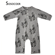SOSOCOER Newborn Baby Rompers Animal Bear Pattern Girl Boy Jumpsuit Kids Clothes Autumn Cartoon Long Sleeve Infant Romper Outfit(China)