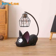Decoration Accessorie Manualidades Miniature Decoration Small Cat Night Light Resin Crafts Decoration