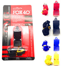 EDCGEAR fox40 Whistle Plastic FOX 40 Soccer Football Basketball Hockey Baseball Sports Referee Whistle Survival Outdoor
