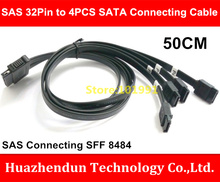 New Special Offer SAS 32Pin to 4PCS SATA Data Connecting Cable 50CM SAS SFF 8484 one drag four data cable(China)