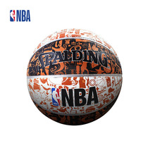 Original NBA Spalding 73-722Y Graffiti Version Rubber Basketball 7# Indoor/outdoor Official Standard Size And Weight SBD0065A(China)