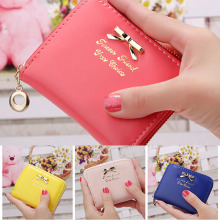 New Womens Handbag Leather Mini Wallet Card Holder Small Zip Coin Purse Clutch Handbag