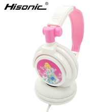Hisonic headphone children boy and girl headphones Wired Headband Headset Cartoon earphones For Kids cute beautiful Headphone(China)