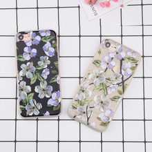 For iPhone 6 6s Plus 7 7 Plus Case DILLON GUAN Sketch flower Pattern soft tpu Back Cover for iPhone 6 Case Fundas Coque Capa(China)