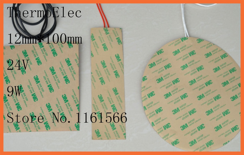 12mm*100mm 24V 9W element heating PI film polyimide heater heat rubber electric Mirror in the mirror Industrial Heater element<br><br>Aliexpress