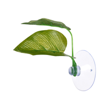 Artificial Plant Leaf Betta Hammock Fish Rest Bed Tropical Saltwater Fish Aquariums Supplies Including 2 Leaves(China)