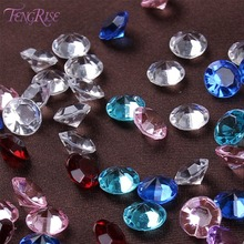 FENGRISE 8 mm 500 pcs Diamond Confetti Wedding Decoration Centerpiece Crystal Party Favors Accessories Table Craft Gift Supplies