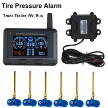 Tyre Pressure Monitoring System Passenger Vehicle bus Truck Tire Pressure Alarm 6 Internal Sensors + Repeater(China)