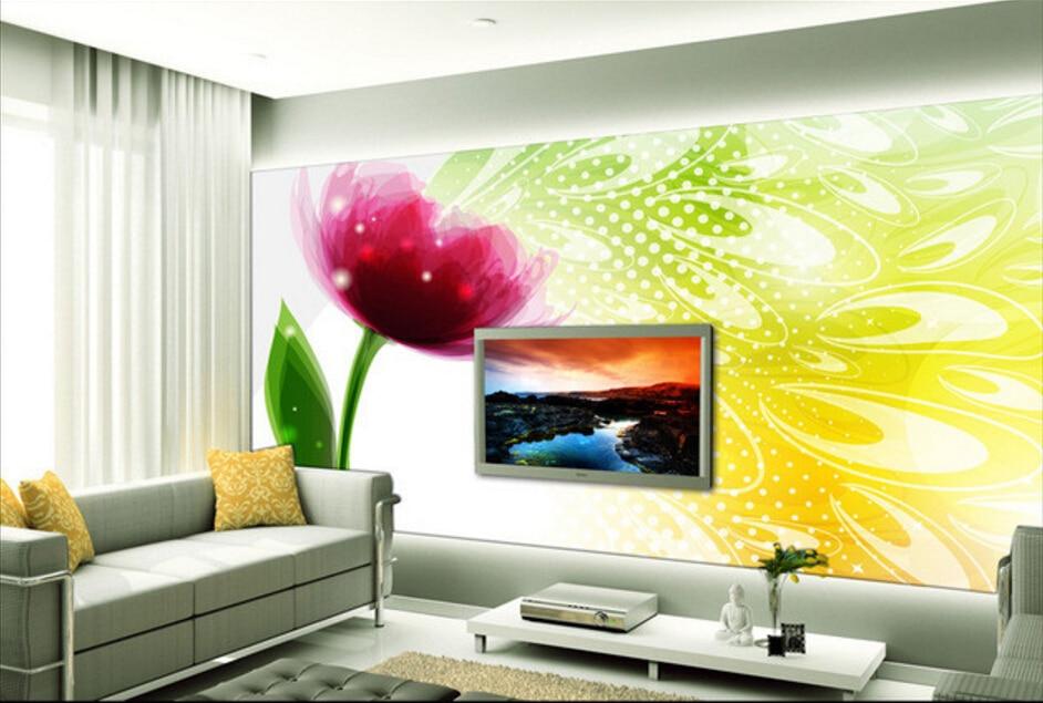 Custom floral wallpaper,Dream gorgeous flowers,3D stereoscopic wallpaper for living room restaurant bedroom waterproof wallpaper<br>