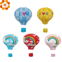 New!12inch/10inch Rainbow Paper Lantern Hot Air Balloon Sky Lanterns Home/Wedding/Birthday/Christmas Party Decoration Supplies