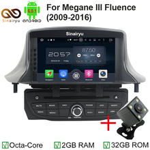 Sinairyu 7inch 2GB Octa Core Android 6.0 Car DVD RadioFor Renault Megane III Fluence 2009 2010 2011 2012 2013 2014 2015 2016(China)