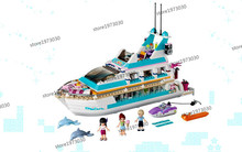 Educational Model Building Toys 3D Dlock & Hobbies For Children 01044 girls dolphin yacht(China)