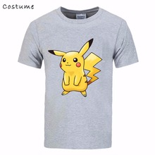 Cheap 3D print Pokemon game black Men t-shirt fast shipping plus size name brand logo 2017 funny male gift tshirt costume(China)