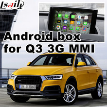 Android GPS navigation box for Audi Q3 3G MMI video interface box mirror link youtube facebook quad core 4.4 rear view(China)