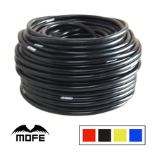 MOFE Car-styling Auto accessories 10Meter 4mm Silicone Racing tubing Vacuum Hose Color Red Black Blue Yellow