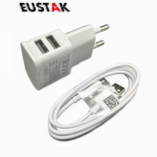 Eustak 5V 2A USB charger Wall Charger for Samsung galaxy S4 S3 S5 Huawei for xiaomi meizu LG Sony mobile phone charger EU Plug(China)