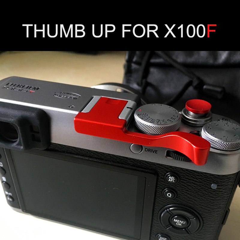 Metal Finger Thumb Thumbs Up Hand Grip For Fujifilm Fuji  X100 X100S Only Black
