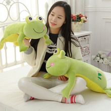 Cartoon Frog plush pillow toys for children gift Contain Plush Flannel blanket Bedroom cushion 60cm
