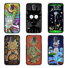 Rick and Morty Season Black Case Cover Scrub Shell Coque for Samsung Galaxy S3 S4 S5 Mini S6 S7 Edge Plus(China)