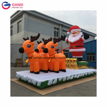 2017 Christmas holiday hot toys deerlet car inflatable santa with tractor(China)