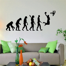 Basketball Evolution Wall Decal Ball Game Vinyl Sticker Sport Home Interior Wall Murals Wall Vinyl Graphics Wall Sticker X066
