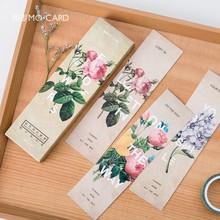 30pcs/pack Flowers Bookmark Paper Bookmarkers Promotional Gift Stationery Free Bookmarks For Books Book Marks