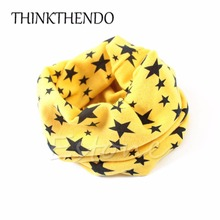 Fashion Winter Warm Stars Collar Children Cotton O Ring Neck Scarves Cute Baby Girls Boys Print Scarf Children Loop Scarf(China)