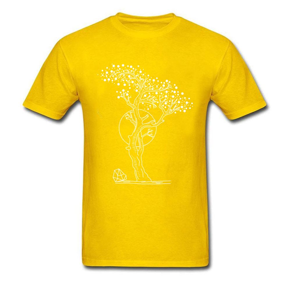 Pointilism Tree Life_yellow