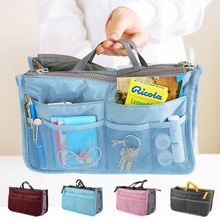 Cosmetic Bag Storage Bag Makeup Multifunction Organizer Zip Holder Portable Travel Storage Bag Thickness OB