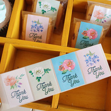 "80pcs/lot 4 styles ""thank you'' seal sticker cup gift box sticker baking package cake box decoration packaging sticker"