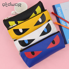 Buy 1PC Creative cartoon Cats PU Leather Waterproof Pencil Case Stationery Storage Bag School Office Supply Escolar Papelaria for $1.36 in AliExpress store