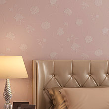 Pastoral Floral Romantic Wallpaper 3D Flowers Bedroom Decor Wallpapers Pearly Coating Mural Wall Decals papel de parede QZ082