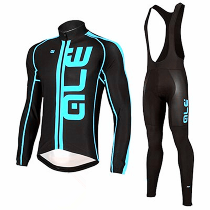2017 Brand New ALE pro team cycling jerseys long sleeve quick dry GEL Breathable Pad cloth MTB Ropa Ciclismo Bicycle Jerseys Set<br>