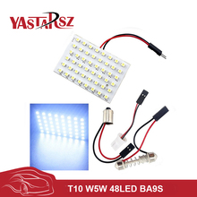 High Quality c5w w5w 48 LED Auto Car Dome Festoon Interior Bulb Roof Light Lamp with T10 BA9S Festoon Adapter Base Reading light(China)