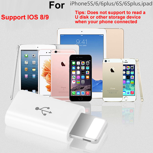 Mini Android Usb Micro USB Female Adapter for Lightning USB Male 8PIN Connector for iPhone 5 6 Plus Usb Cable Converter 10pcs(China)