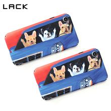 LACK Bus Pattern Phone Case For iphone 7 Case Funny Cartoon Bulldog Middle Finger Cover For iphone 7 6 6s Plus Matte Hard Coque