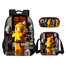 VEEVANV 3PCS/SET Backpacks Boys Girls School Bookbag Fashion Cartoon Lego Ninjago 3D Printing Bag Casual Shoulder Bag Kids