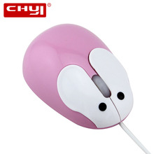 CHYI Mini Cute Rabbit Mouse USB Wired Optical Mause Mice Gaming Mouse for Laptop Computer Gifts for Kids Ladies(China)