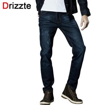 Drizzte marca homens jeans stretch jeans slim preto azul moda calças da moda calças Tamanho 33 34 35 36 38 40 42 Para homens Jean