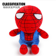 New Arrivals Pet Dog Cat Toys Cute Plush Totoro Spiderman Dog Squeak Toys Puppy Chew Squeak Toys Soft Durable Sounding Toys(China)