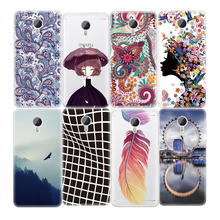 Black White Abstract Art Lines Soft TPU Pattern Case For Meizu M3S M3 Note M2 Mini Cartoon Girl Painted Phone Cover Shell Cases