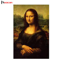 Free Shipping Crafts DIY Diamond Painting Embroidery Cross-Stitch Famous Painting Mona Lisa Leonardo da Vinci New Idea for Cross