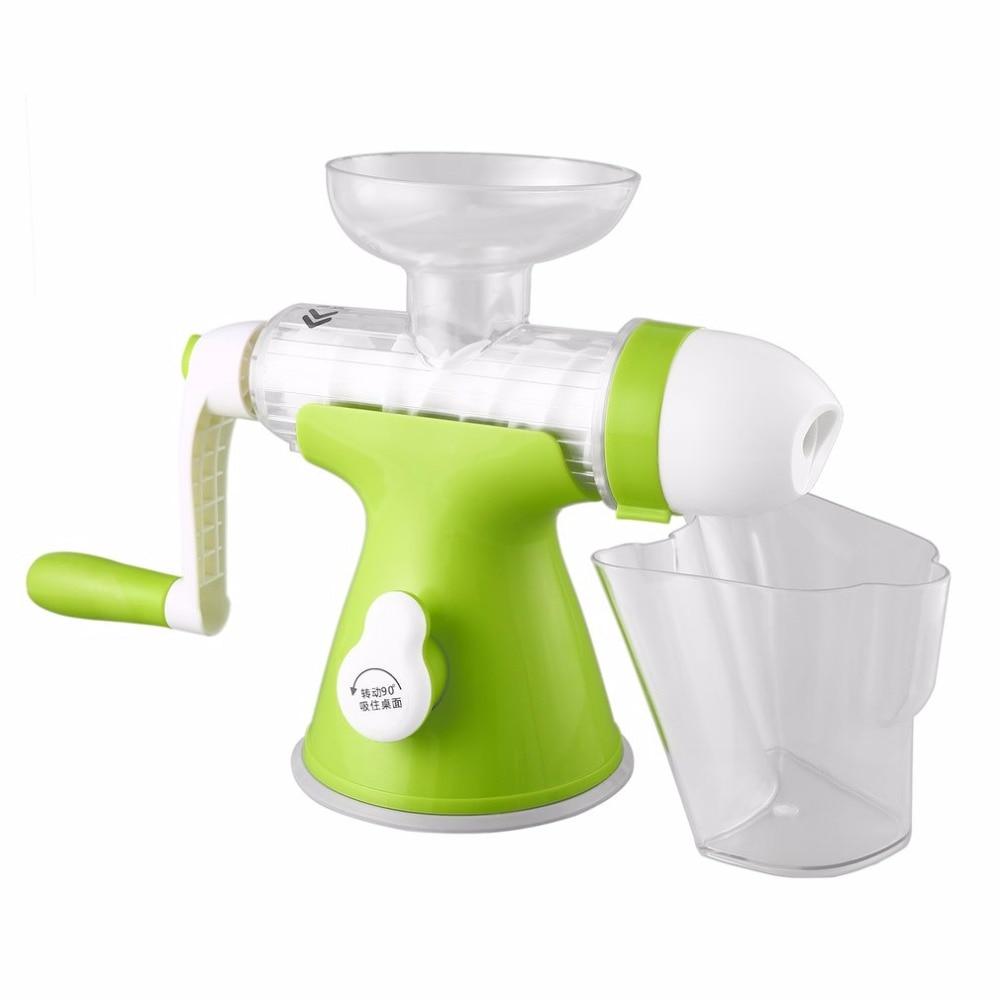 Manual Hand Crank Health Juicer Maker Slow Grinding Juicer for Home &amp; Office Fruits Vegetables Juice Extractor<br>