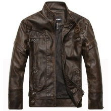 New fashion brand bomber jacket mens leather jacket autumn& winter leather clothing homens jaqueta de couro business casual coat